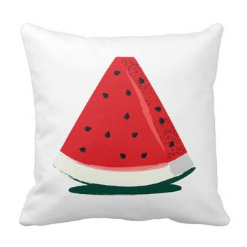 Watermelon wedge slice pillow