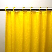 "Royal Bath 3D Effect Embossed 5-Gauge PEVA Shower Curtain with Built-in Hooks (70"" x 72"") - Yellow"