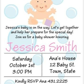 10 Cute Bath Baby Shower Invitations