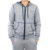 True Religion Zip Up Hoodie Fashion Sweat Jacket - Mens