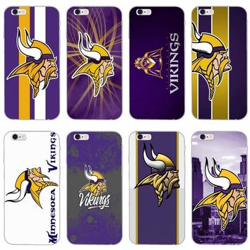 Minnesota Vikings American Football slim silicone Soft phone case For iPhone X 8 8plus 7 7plus 6 6s plus 5 5s 5c SE 4 4s