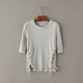 Autumn Knit Pullover Tops [6332317124]