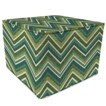 SUNBRELLA® Outdoor Square Pouf Ottoman in Fischer