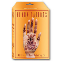 EARTH HENNA Premium All-Natural Body Painting Kit | Tattoos