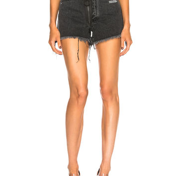 OFF-WHITE Embellished 5 Pocket Short in Dark Grey | FWRD