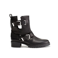 LEATHER ANKLE BOOT WITH STRAPS - Shoes - WOMAN | ZARA Turkey