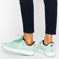 Nike Air Force 1'07 Enamel Green Suede Trainers