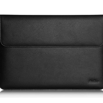 Microsoft Surface Pro 4 Case Sleeve, also fit Surface PRO 3 / Surface 3, ProCase Wallet Sleeve Case for Surface PRO 4 / 3 Tablet Computer, Compatible with Surface Type Cover Keyboard (Black)