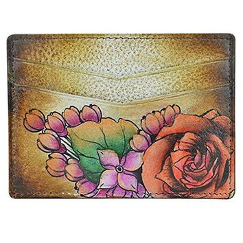 Anuschka Hand Painted Genuine Leather Credit Card Holder