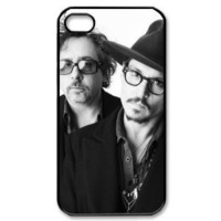 Tim Burton and Johnny Depp iPhone 4/4s Case Hard Protective iPhone 4 4s Case