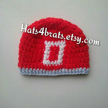 Buckeye Hat, Ohio State Crochet Hat, Ohio State Baby Hat, Newborn Hat, Infant Hat, Newborn Photo Prop, Baby Hat, Crochet Football Hat