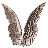 Angel Wings - Pink Wall Decal Art