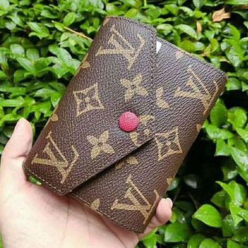 LMNFON LV Louis Vuitton Women Shopping Leather Handbag Tote Wallet Purse