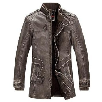Valdosta® Faux Leather Moto Jacket