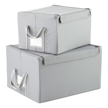 reisenthel Grey Fabric Storage Boxes with Handles