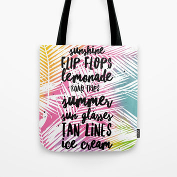Bright Sunshine and Flip Flops Tote Bag by Inspire Your Art