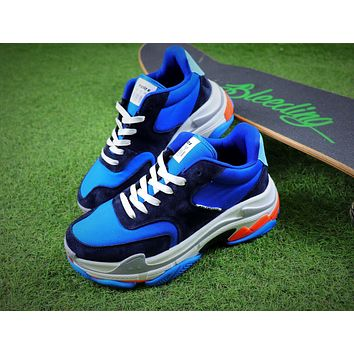Balenciaga Triple S Blue Black Sneaker - Sale