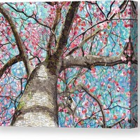 Paper Magnolias Canvas Print / Canvas Art by Shawna Rowe