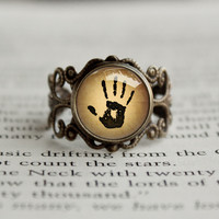 The Dark brotherhood Mysterious Note We know Vintage style Ring