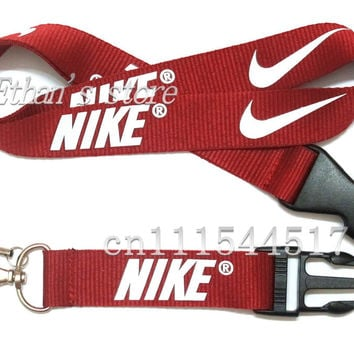 FREE SHIPPING  dark red  key Lanyards Sport  logo mobile neck straps