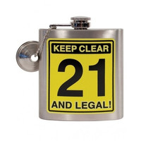 21st Birthday Sliver Flask