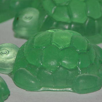 9 SEA TURTLE SOAP - Baby Shower - Wedding Shower - New Baby Gift - Kids Party Favors - Decorative Art Soap - Hand Made - Custom Orders Too
