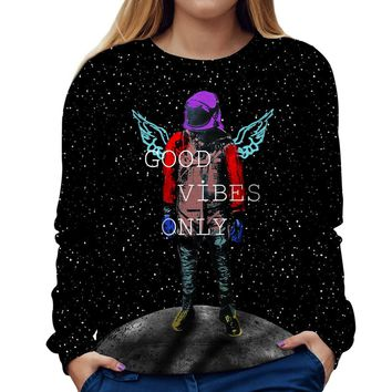 Good Vibes Only Womens Sweatshirt