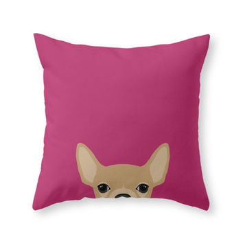Society6 Chihuahua Throw Pillow