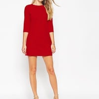ASOS Petite | ASOS PETITE Shift Dress in Ponte with 3/4 Sleeves at ASOS