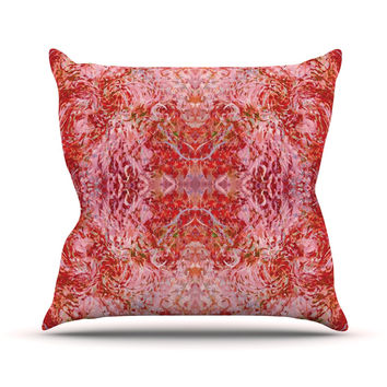 "Nikposium ""Chili"" Pink Red Outdoor Throw Pillow"