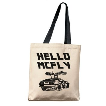 Hello McFly Tote Bag