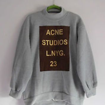 ACNE STUDIOS L.NYG. 23 heather grey oversized sweatshirt by She Inside. One Size