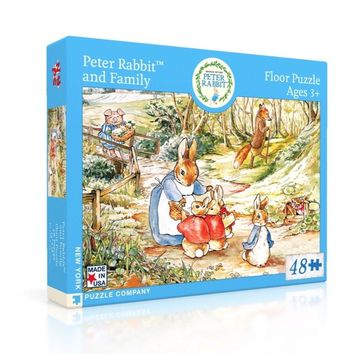New York Puzzle Company - Peter Rabbit and Family Puzzle-Beatrix Potter