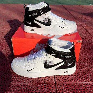 Nike Air Force 1 AF1 High-Top Wild Flat Sneakers Shoes