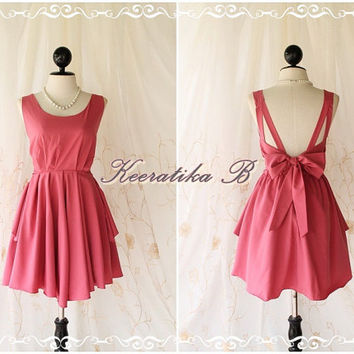 A Party V Shape - Pink Nude Color Wedding Prom Party Cocktail Bridesmaid Dinner Dancing Dress
