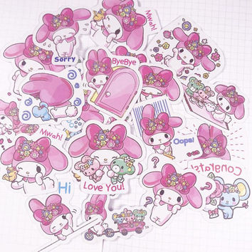 24 PCS, Miffy sticker, My Melody sticker, Little Twin Stars sticker, Sanrio sticker, Hello Kitty, Cartoon sticker, JPOP, Miffy, SK 12