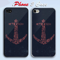 Nautical Coral Anchor  Custom iPhone 5 Case Cover