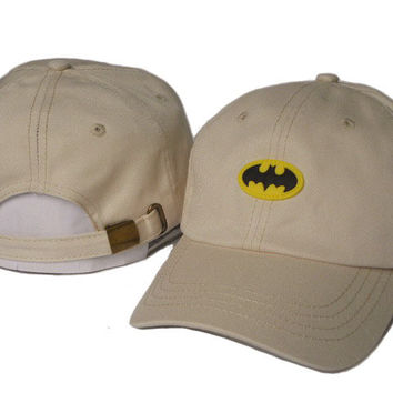 Khaki Batman Embroidered Baseball Cap Hat