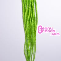 Lime Green U-Tip Synthetic Dreadlocks (10 pieces)