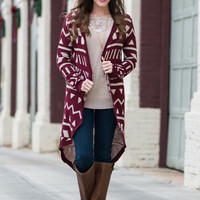 All My Love Cardigan, Burgundy