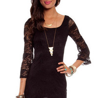 Go Out with Flare Lace Dress $36