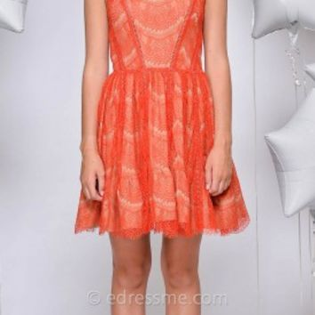 June Raw Lace Day Dress by Greylin