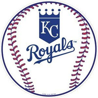 Kansas City Royals 12 inch Baseball Style Metal Circle Sign