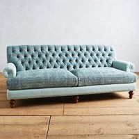 Rug-Woven Fan Pleat Sofa by Anthropologie