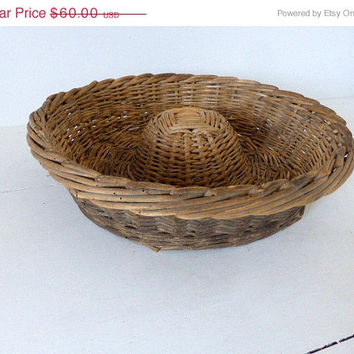 ON SALE Antique French Bread Proving Basket