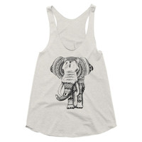 Elephant Tank Top, Elephant Clothing, Womens Tops, Womens Tank Tops, Elephant Racerback Tank, Workout Tank, Fitness Apparel, Gift For Women
