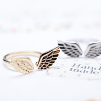Angel Love Wing ring in gold /silver- Adjustable Ring