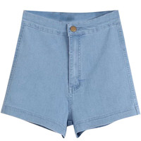 Denim Shorts with Back Pockets