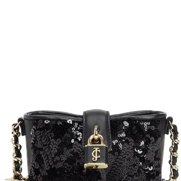 Black Sequin Mini Crossbody by Juicy Couture, No