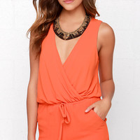 Good Form Orange Romper